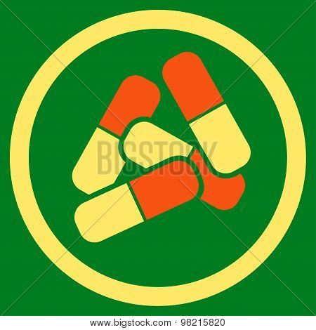 Drugs icon from Business Bicolor Set