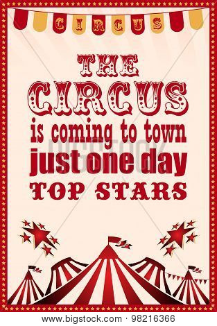 circus vintage poster for your design