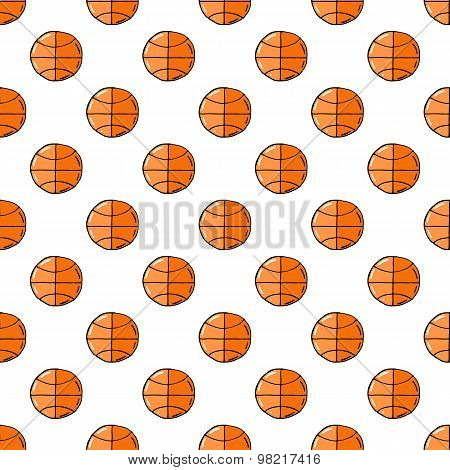 Basketball ball seamless pattern.
