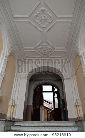 Tbilisi,Georgia-March,2 2015: Decorated old entrances, hidden away from the facades. Tbilisi