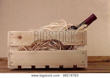 Wine Bottle In Box