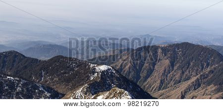 Distant mountains of the Himalayan range