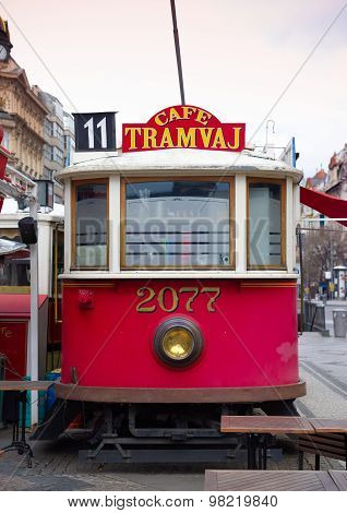 Tram Cafe In Prague