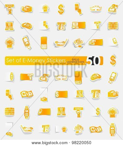 Set of e-money stickers
