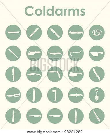 Set of cold arms simple icons
