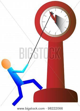 Stop The Clock Showing Five Minutes To Twelve