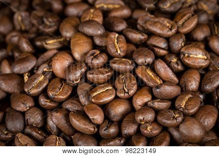Organic roasted aromatic coffee beans
