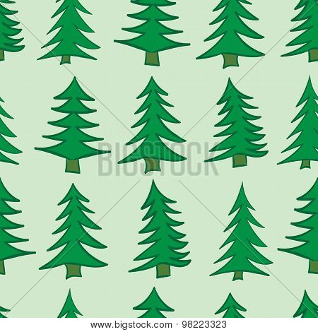 Seamless Christmas trees