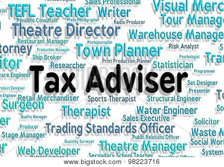 Tax Adviser Shows Mentors Word And Words