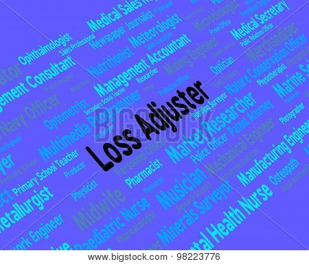 Loss Adjuster Means Work Adjustor And Hiring