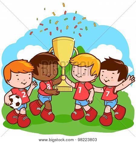 Soccer kids champions