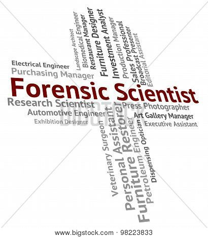 Forensic Scientist Means Research Occupation And Researcher