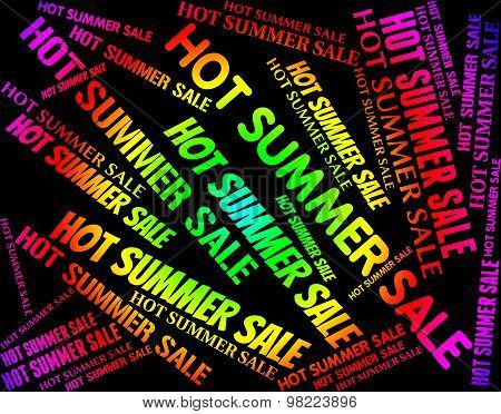 Hot Summer Sale Shows Retail Discounts And Warmth