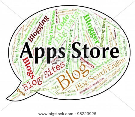 Apps Store Indicates Application Software And Selling