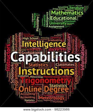 Capabilities Word Means Proficiency Words And Potential