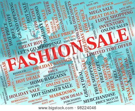 Fashion Sale Shows Glamour Promo And Promotional