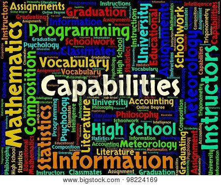 Capabilities Word Means Aptness Ability And Aptitude