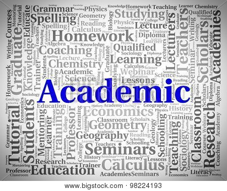 Academic Word Represents Military Academy And Academies