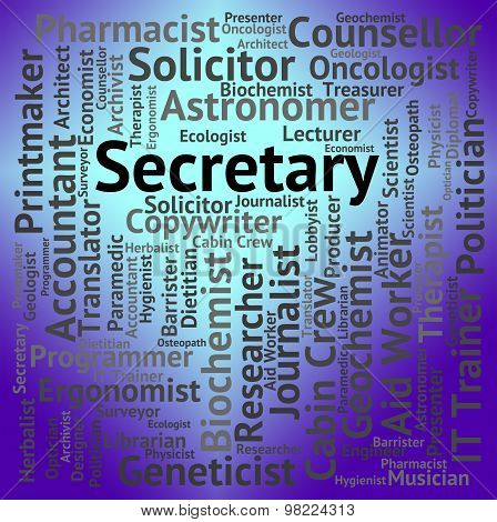 Secretary Job Represents Clerical Assistant And Pa