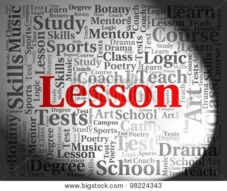 Lesson Word Means Sessions Lessons And Session