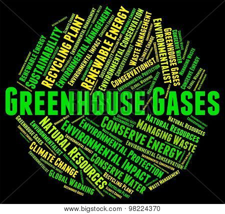 Greenhouse Gases Represents Global Warming And Emission