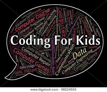 Coding For Kids Represents Program Ciphers And Toddlers