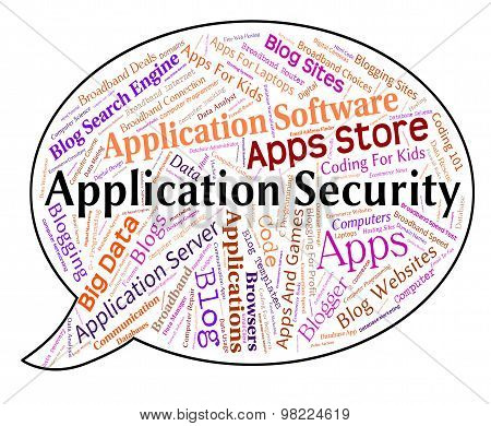Application Security Represents Word Restricted And Applications