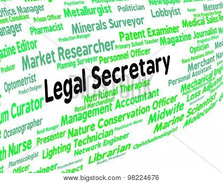 Legal Secretary Represents Clerical Assistant And Pa