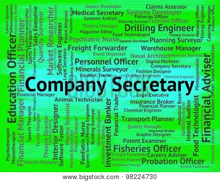 Company Secretary Means Clerical Assistant And Administrator