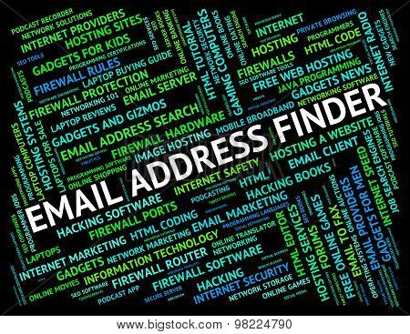 Email Address Finder Means Send Message And Addresses