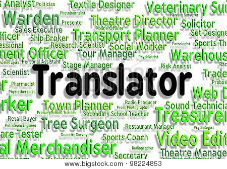Translator Job Shows Translators Decipherer And Occupation