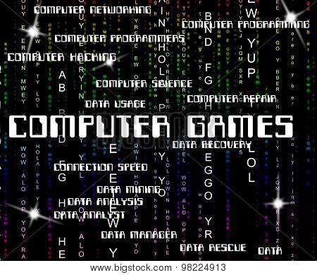 Computer Games Shows Play Time And Communication