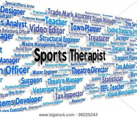 Sports Therapist Represents Physical Exercise And Clinicians