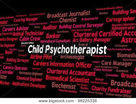 Child Psychotherapist Represents Personality Disorder And Child's