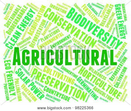 Agricultural Word Indicates Cultivation Words And Cultivates