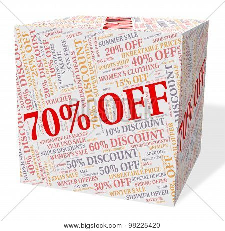 Seventy Percent Off Indicates Closeout Offers And Retail
