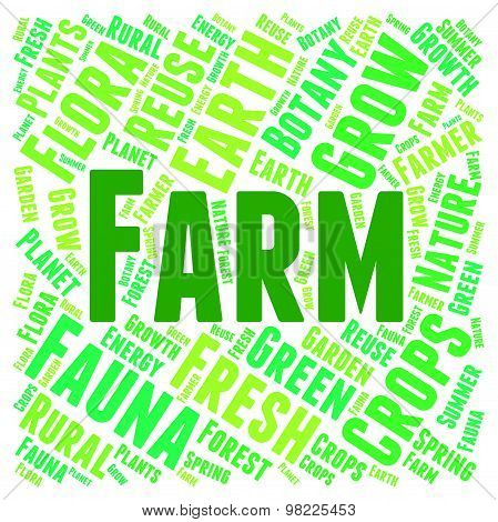 Farm Word Means Cultivate Cultivation And Text