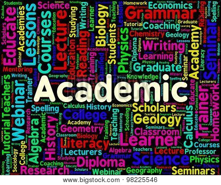 Academic Word Represents Military Academy And Institutes