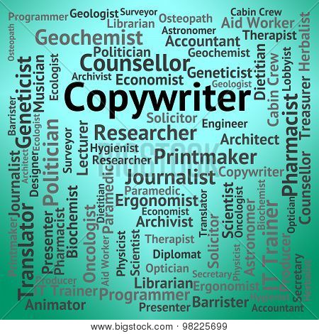 Copywriter Job Indicates Occupations Ad And Advertising