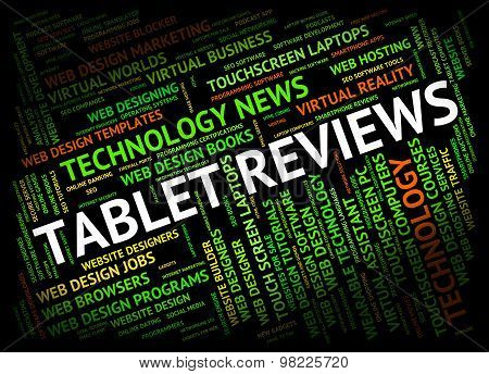 Tablet Review Shows Assessment Computers And Technology