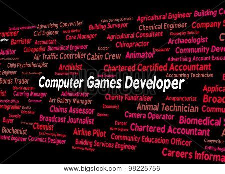Computer Games Developer Represents Play Time And Communication