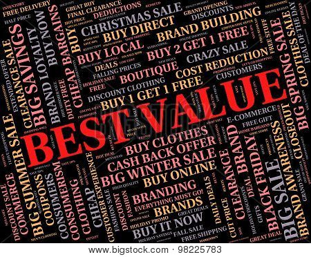 Best Value Represents Number One And Cost