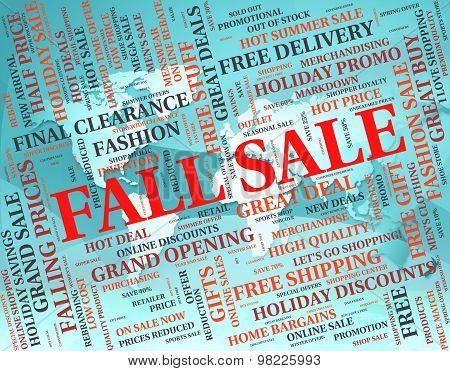 Fall Sale Represents Bargain Save And Closeout