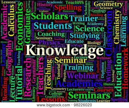 Knowledge Word Indicates Wise Expertise And Words