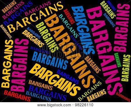 Bargains Word Represents Offers Promotion And Save