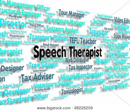 Speech Therapist Means Voice Therapists And Hiring