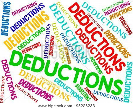 Deductions Words Indicates Clearance Promo And Reduce