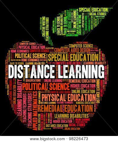 Distance Learning Words Indicates Correspondence Course And Development