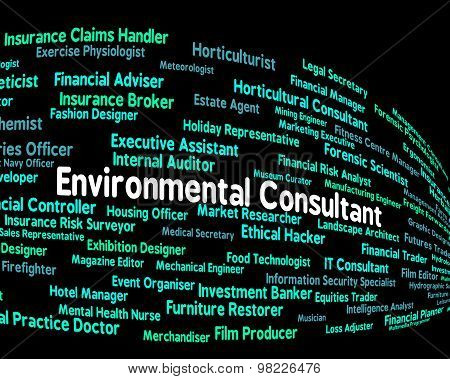 Environmental Consultant Shows Guide Consultation And Environmentally