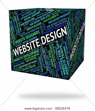 Website Design Represents Domain Domains And Designs